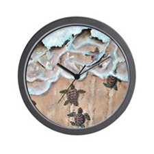 Race To The Sea square Wall Clock