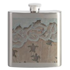Race To The Sea square Flask