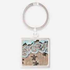 Race To The Sea square Square Keychain