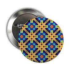 """kaleido art blue yellow 2.25"""" Button"""