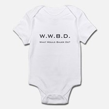 White with Black Infant Bodysuit