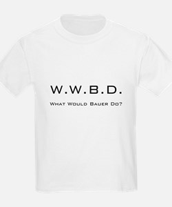 White with Black Kids T-Shirt