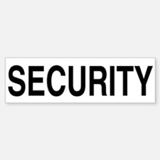 SECURITY Bumper Car Car Sticker