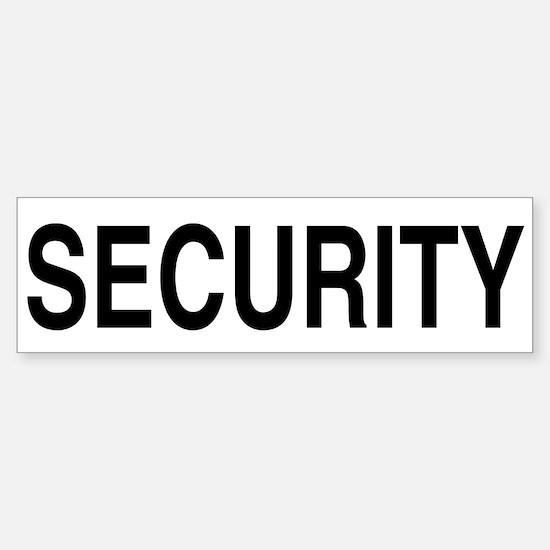 SECURITY Bumper Car Car Sticker