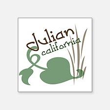 "julianHEARTVINE Square Sticker 3"" x 3"""