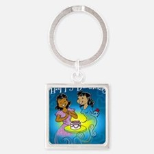 sisters birthday copy Square Keychain