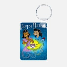 sisters birthday copy Aluminum Photo Keychain