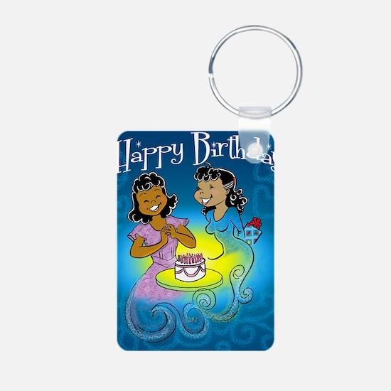 sisters birthday copy Aluminum Photo Keychain