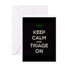 keep calm and triage on larger Greeting Cards