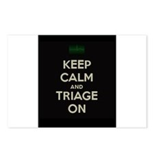 keep calm and triage on larger Postcards (Package