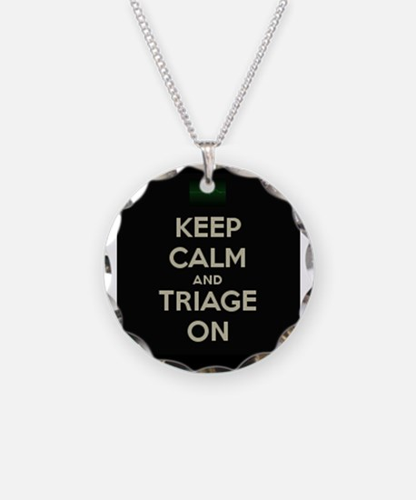 keep calm and triage on larger Necklace