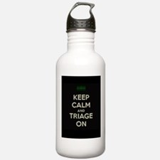 keep calm and triage on larger Water Bottle