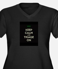 keep calm and triage on larger Plus Size T-Shirt
