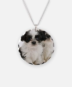 Two Shih Tzu Puppies Necklace