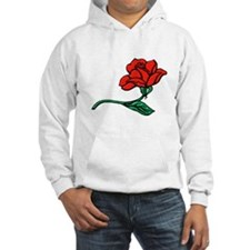 A Single Perfect Red Rose Hoodie