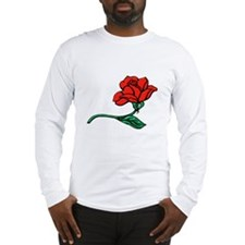 A Single Perfect Red Rose Long Sleeve T-Shirt