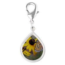 Monarch Keepsake Box Silver Teardrop Charm
