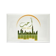I Love Dubai Rectangle Magnet
