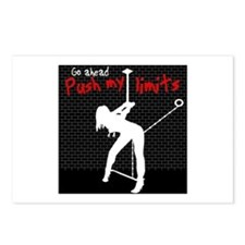 Go ahead push my limits Postcards (Package of 8)
