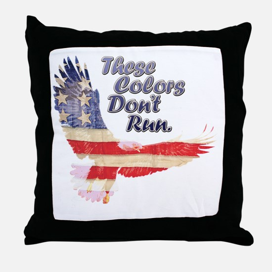 Eagle flag Throw Pillow
