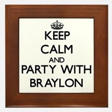 Keep Calm and Party with Braylon Framed Tile