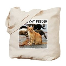 Feral Cat Feeder Tote Bag
