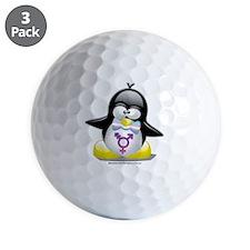 Transgender-Penguin Golf Ball