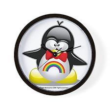 Rainbow-Penguin Wall Clock