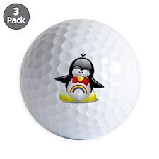 Rainbow-Penguin Golf Ball