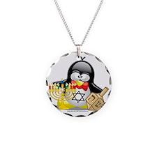 Penguin-Hanukkah Necklace