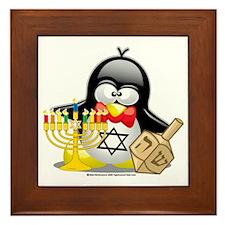 Penguin-Hanukkah Framed Tile