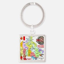 Locations Square Keychain