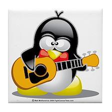 Guitar-Penguin Tile Coaster