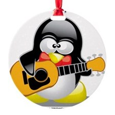 Guitar-Penguin Ornament