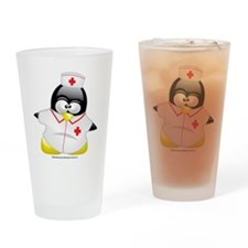 Nurse-Penguin Drinking Glass