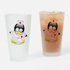 Nurse-Penguin Drinking Glass