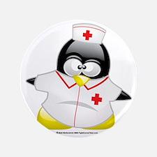 """Nurse-Penguin 3.5"""" Button"""