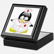 Nurse-Penguin Keepsake Box