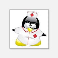 "Nurse-Penguin Square Sticker 3"" x 3"""