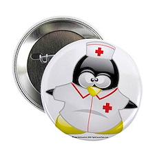 """Nurse-Penguin 2.25"""" Button"""