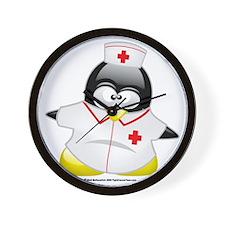 Nurse-Penguin Wall Clock