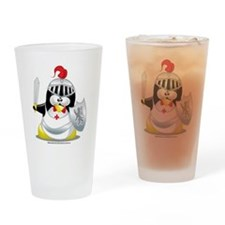 Knight-Penguin Drinking Glass