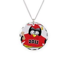 Graduation-Penguin-2011-Red Necklace Circle Charm