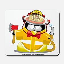 Fireman-Penguin Mousepad