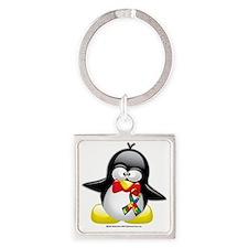 Autism-Penguin Square Keychain