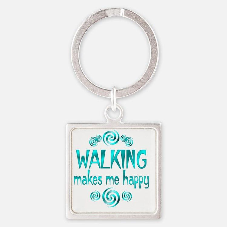 WALKING Square Keychain