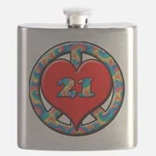peace love 21 copy Flask