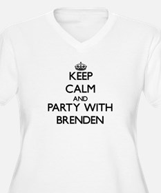 Keep Calm and Party with Brenden Plus Size T-Shirt