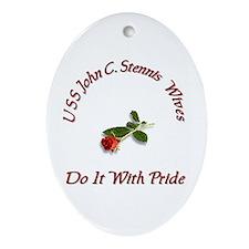 uss john c stennis wives Oval Ornament