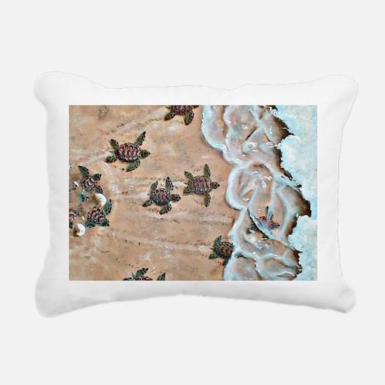 Race To The Sea horizont Rectangular Canvas Pillow